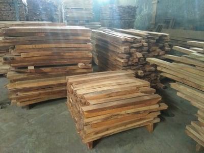 Mahogany wood timber pile