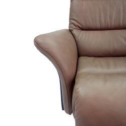 Aniline dyed leather recliner