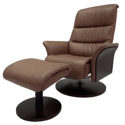 Adam Top Grain Recliner with Ottoman