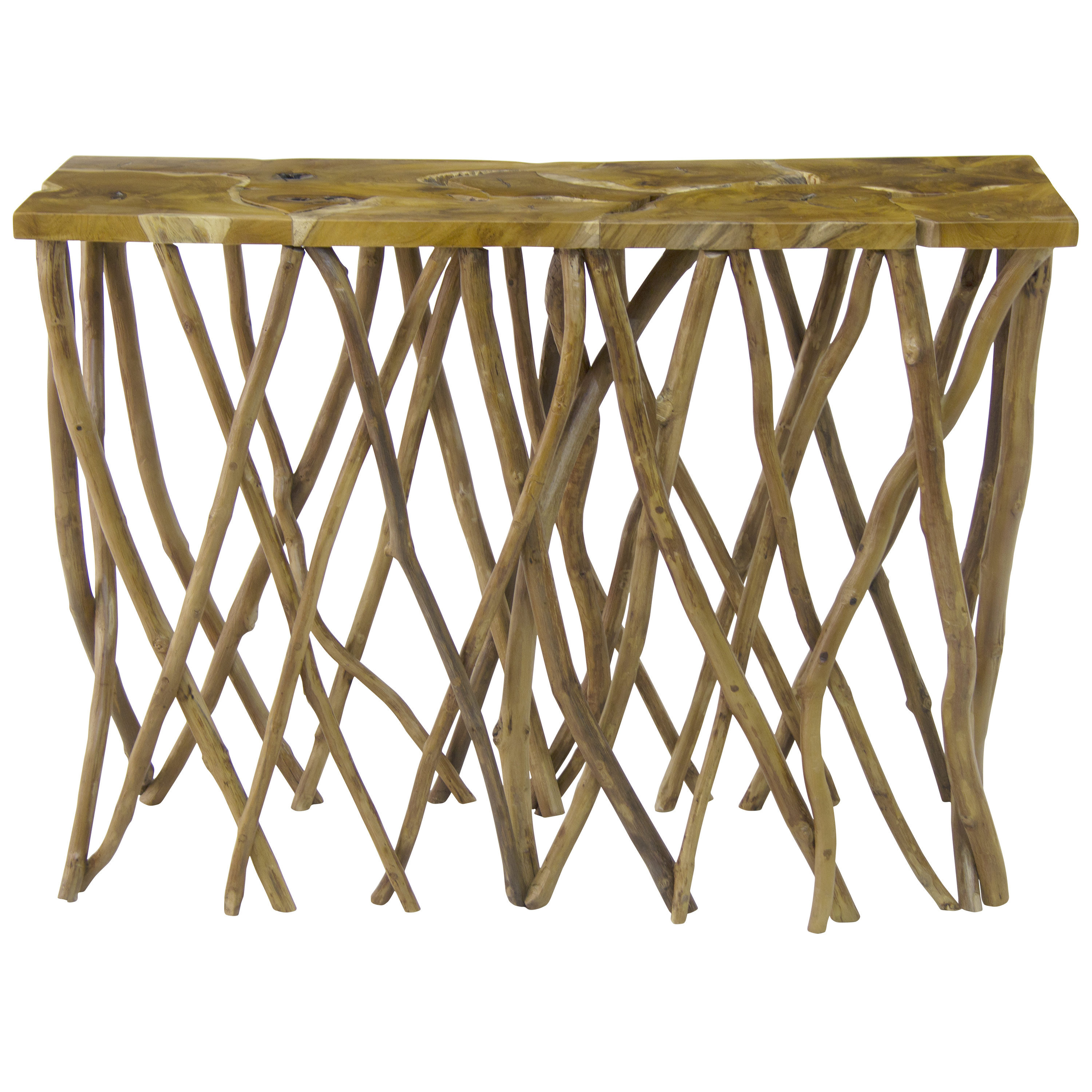 Malea Teak Root Console Table