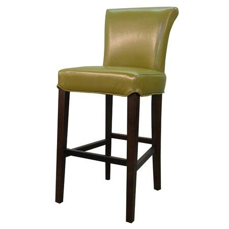 Bentley Bicast Leather Bar Stool in Wasabi