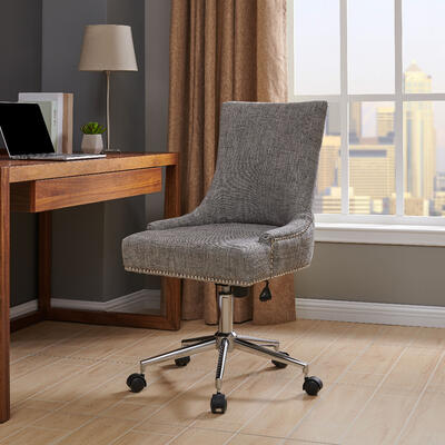 Charlotte Fabric Office Chair in Wolf