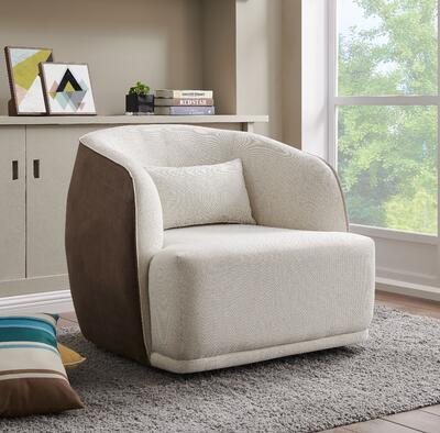 Steward Fabric Swivel Chair in Squarespace Gray