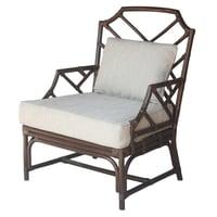 Kara Rattan Accent Arm Chair, Paloma Brown