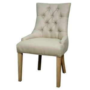Nicole Fabric Dining Chair in Ivory