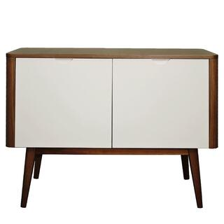 Napolitano Small Cabinet Walnut and White
