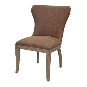 Dorsey Faux Leather Chair in Nubuck Chocolate