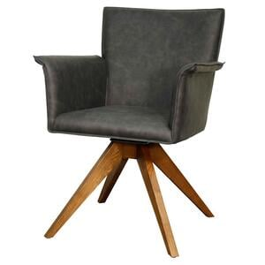 Addison KD Faux Leather Swivel Chair