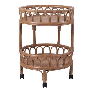 Dijon Rattan Cart, Canary Brown