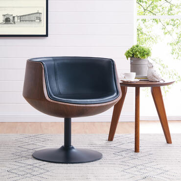 Conan Bucket Chair in Mid Century style