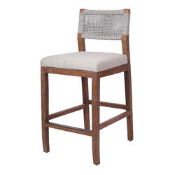 Pierre Rope Counter Stool, Gray *NEW*