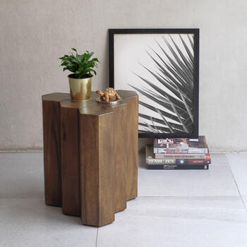 Gannon 6 logs side table