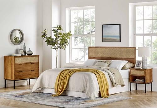 Caine Rattan Bedroom Set