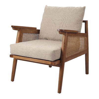 Teramo Rattan Accent Chair in Canary Brown NewPacificDirect Showroom A654