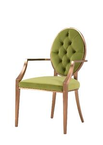 Tiara Fabric Tufted Arm Chair in Royal Olive - NewPacificDirect-Building A654