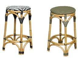 adeline bistro rattan stools