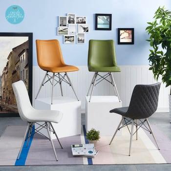 Blaine KD PU Chair Stainless Steel Legs
