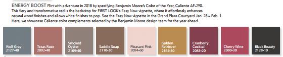caliente color palettes