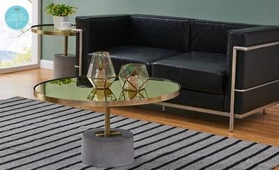 randall sofa and andrea tables
