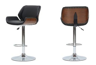tudor bamboo bar stool with gaslift